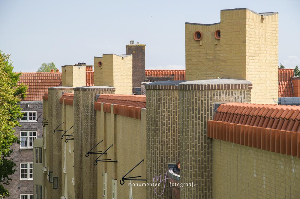 Spaarndam Gele blok Michel de Klerk Amsterdam | Monumentenfotograaf Leontine Lamers